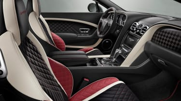 The Continental GT Supersports comes with quilted leather seats and aluminium gearshift paddles