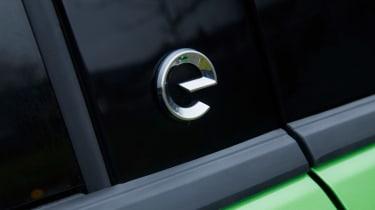Vauxhall Mokka-e 'e' badge