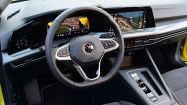 Volkswagen Golf hatchback steering wheel