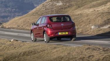 Dacia Sandero hatchback rear country road