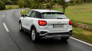 Audi Q2 SUV rear 3/4 tracking