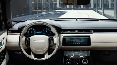 Range Rover has pulled out all the stops inside the Velar, and also removed almost all the buttons, save three rotary dials