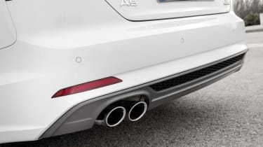 A subtle part of the new Audi A5 Cabriolet's appearance is its reshaped front and rear bumpers.