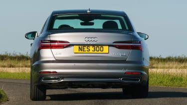 Audi A6 50 TFSI e saloon rear cornering