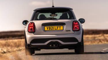 2021 MINI hatchback driving - rear end