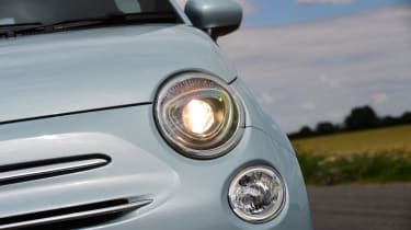 Fiat 500 mild hybrid headlights