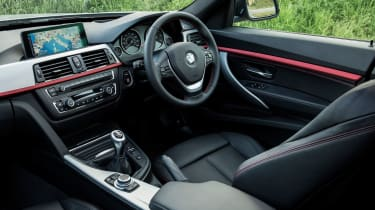 The SE trim has DAB digital radio, sat nav and rear parking sensors, while M Sport models get a leather interior