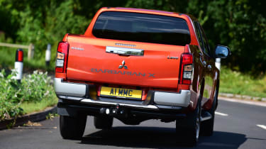 Mitsubishi L200 pickup rear driving