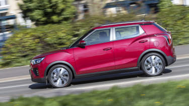 SsangYong Tivoli driving - side view