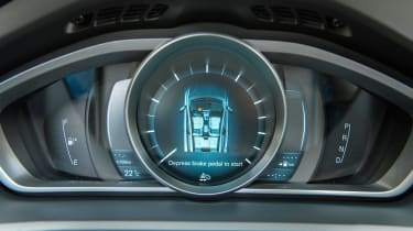 The instrument cluster is a very pleasing piece of design