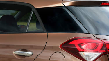 A 'floating roof' design helps the i20 to look modern and sleek