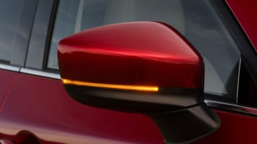 Neat LED strip indicators are incorporated into the door mirrors