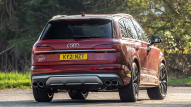 Audi SQ7 SUV rear 3/4 cornering