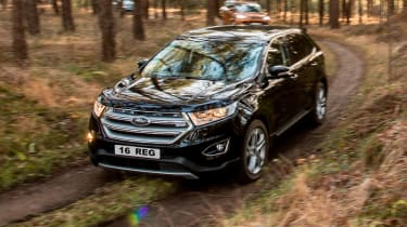 The Edge's rivals include the Kia Sorento, Hyundai Santa Fe and Honda CR-V, as well as stiff competition from the Land Rover.