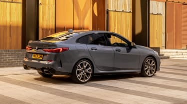 BMW M235i Gran Coupe saloon rear 3/4 static