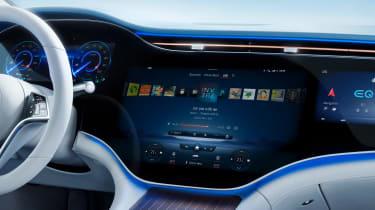 2021 Mercedes EQS central infotainment screen