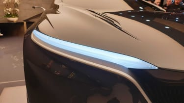 Lagonda All-Terrain SUV concept Geneva headlight