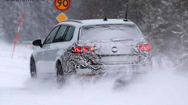2019 Volkswagen Passat Estate spy shot rear