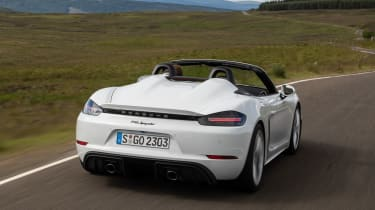 Porsche 718 Boxster Spyder rear driving
