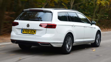 Volkswagen Passat GTE Estate driving - rear view