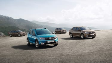 The UK Dacia range comprises the Duster, Sandero, Sandero Stepway and Logan MCV