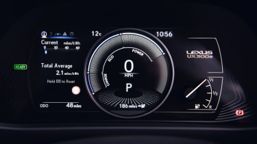 Lexus UX 300e SUV instruments