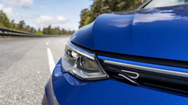 2021 Volkswagen Golf R Estate - headlight and badge