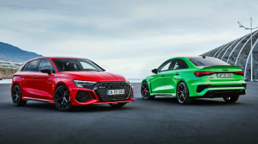 2021 Audi RS 3 Sportback and RS 3 Saloon