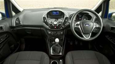 If you've been in a Fiesta, the B-MAX interior will be instantly familiar. It's attractive but there are some cheap plastics