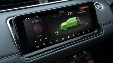 Range Rover Evoque P300e charging screen