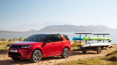 Land Rover Discovery Sport SUV towing