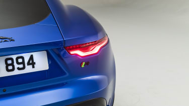 2020 Jaguar F-Type tail-light and R badge