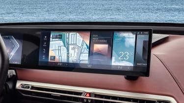 BMW iDrive 8 touchscreen