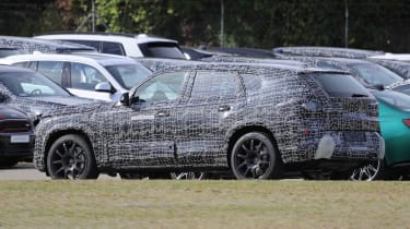 BMW X8 SUV prototype - side/rear view