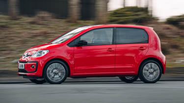 Volkswagen up! hatchback driving - side view