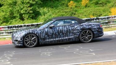 Bentley Continental GTC side spy shot