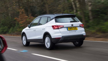 SEAT Arona - rear 3/4 view dynamic