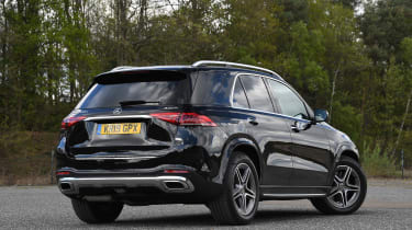 Mercedes GLE SUV rear 3/4 static