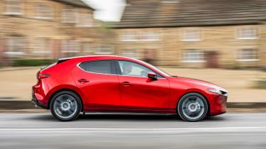 Mazda3 hatchback side action