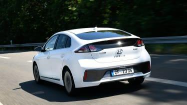 Hyundai Ioniq Hybrid rear 3/4 tracking