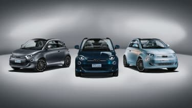 2020 Fiat 500 electric convertible - static