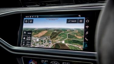 Audi RS Q3 sat nav screen
