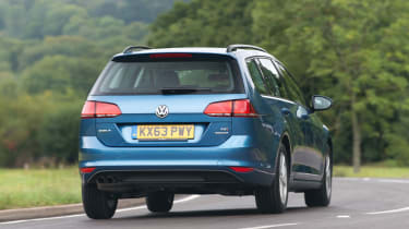 The Golf Estate isn't thrilling to drive but can hold its own on a twisty back road