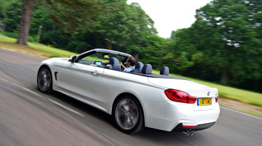 It squares up against rivals like the Mercedes C-Class Cabriolet and Audi A5 Cabriolet