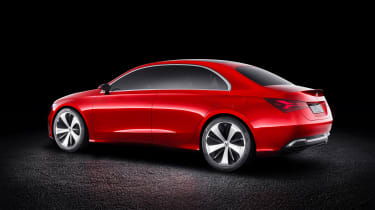 At 4,570mm long, the Concept A Sedan is fractionally shorter but wider and taller than the CLA