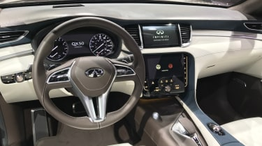 Inside, the QX50 Concept is fairly conventional, but has no shortage of technology
