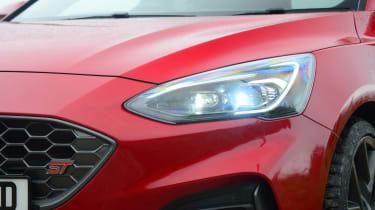 Ford Focus ST hatchback headlights