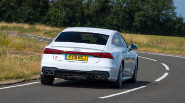 Audi S7 hatchback rear driving