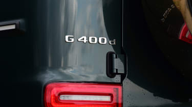 Mercedes G-Class SUV rear badge