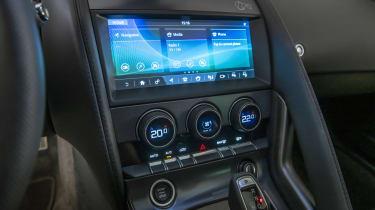 2020 Jaguar F-Type touchscreen
